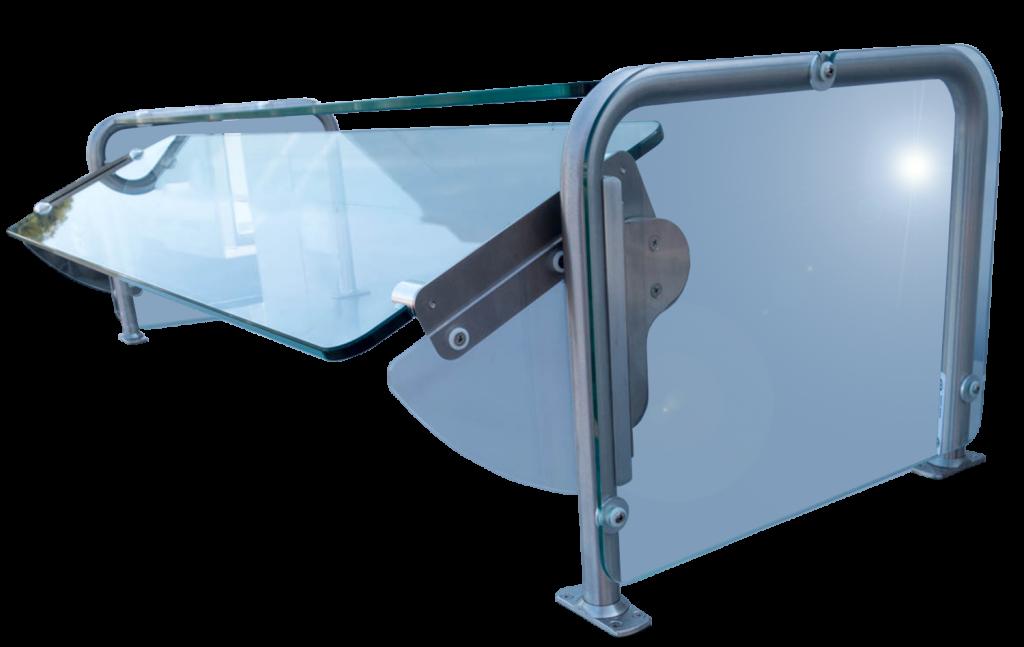Quick Click Adjustable Glass Sneeze Guard