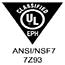 UL BUG ANSI/NSF7 7Z93