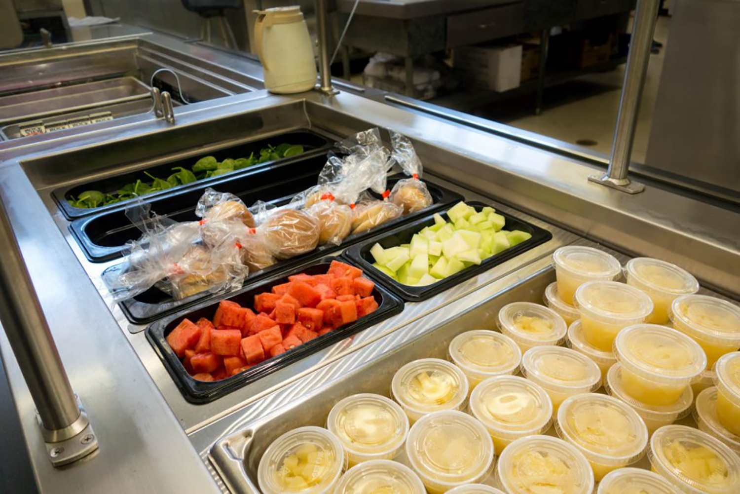 Ice Pan Salad Bar Site Picture - G.A. Systems, Huntington Beach