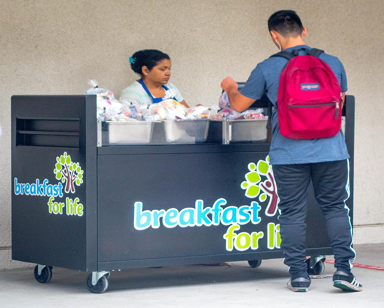 breakfast cart produce page