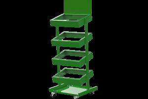 GA Produce Display 4 Tray Green 600x450